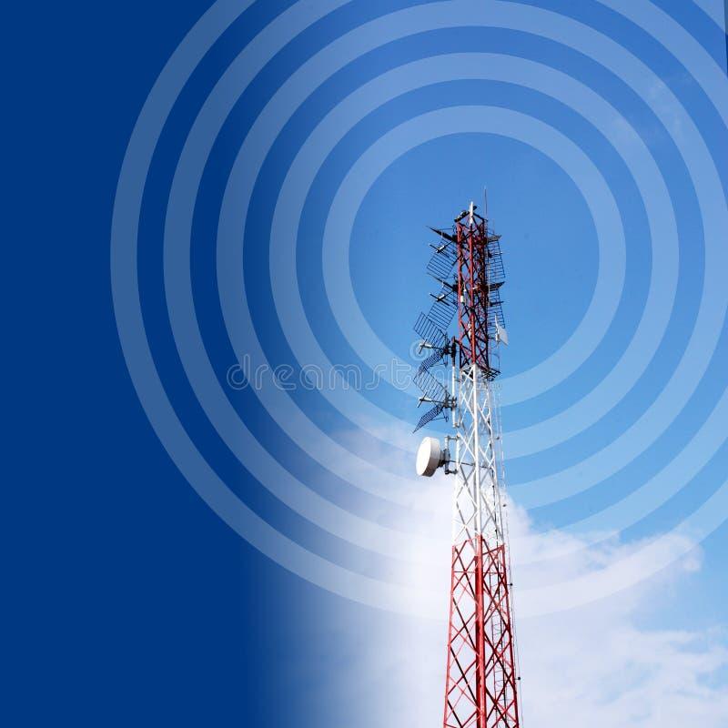 anteny niebieskie niebo royalty ilustracja