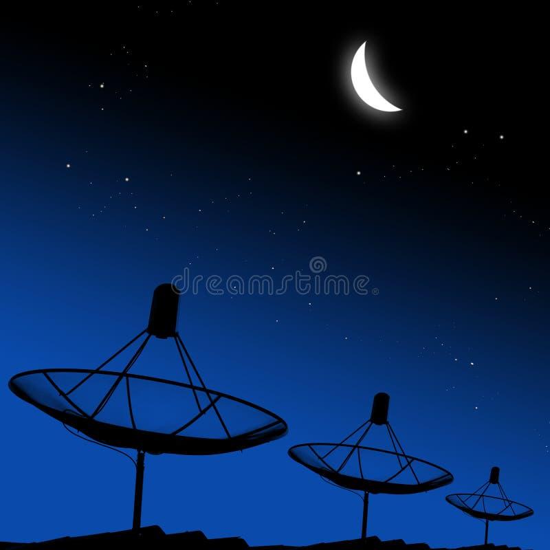 Download Anteny Satelitarne Z Księżyc Zdjęcie Stock - Obraz złożonej z broadband, środki: 28958762