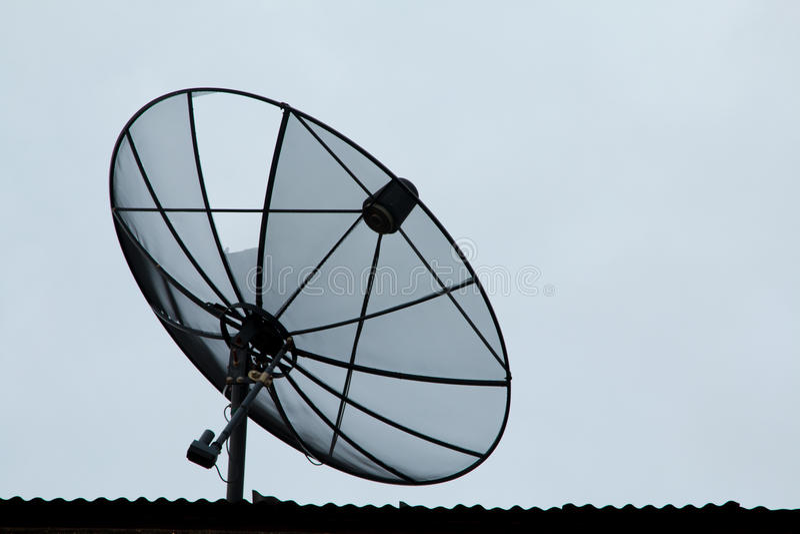 Anteny satelitarnej technologia komunikacyjna obrazy royalty free