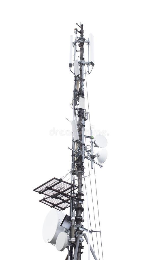 Anteny wierza dla sygnałowego przyjęcia fotografia stock