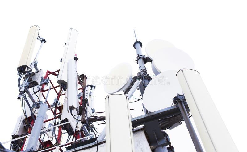 Anteny wierza dla transmisja sygnału zdjęcie royalty free