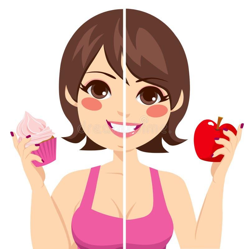 Antes após a dieta ilustração do vetor