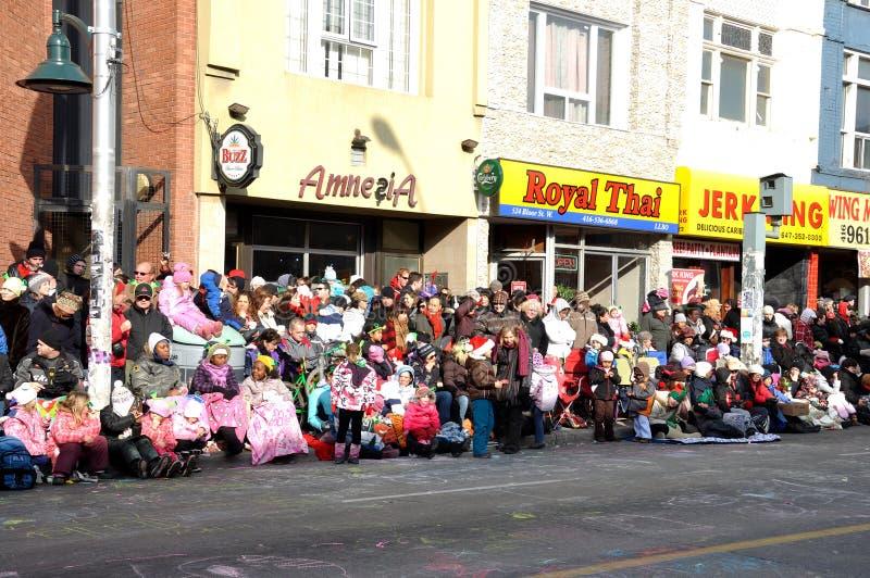 Antes da parada de Papai Noel em Toronto fotos de stock