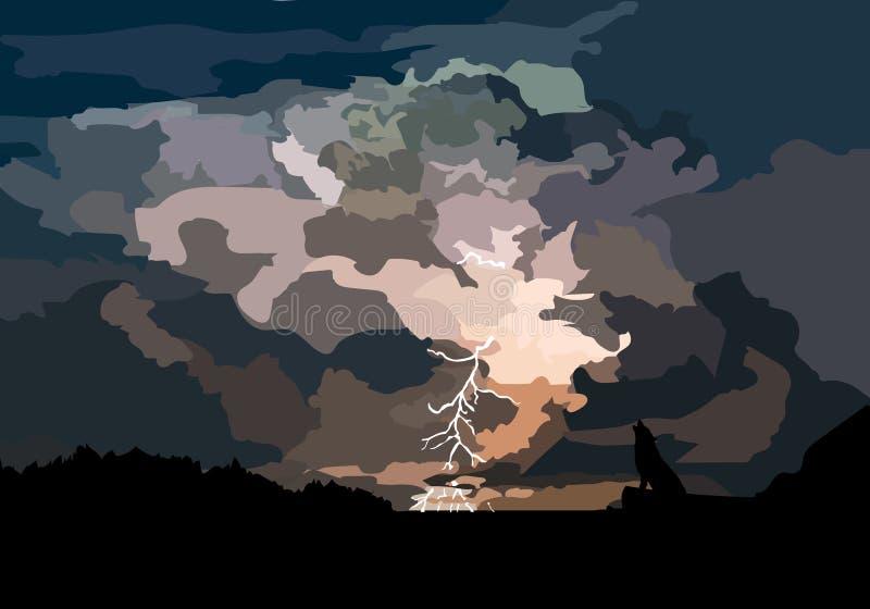 Antes da tempestade ilustração stock