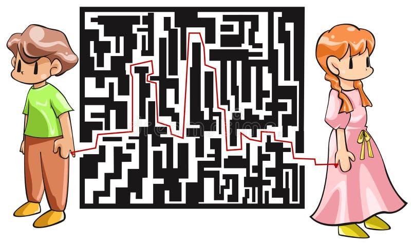 Antes de encontrar a nuestros compañeros del alma que nos conectan ingenio ilustración del vector