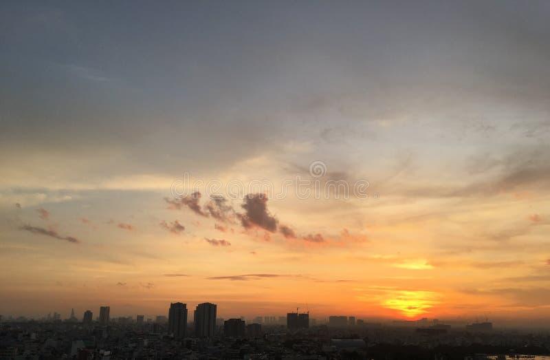 Antes de salida del sol foto de archivo libre de regalías