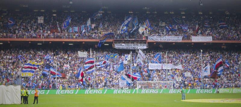 Antes del emparejamiento Sampdoria - inter imagenes de archivo