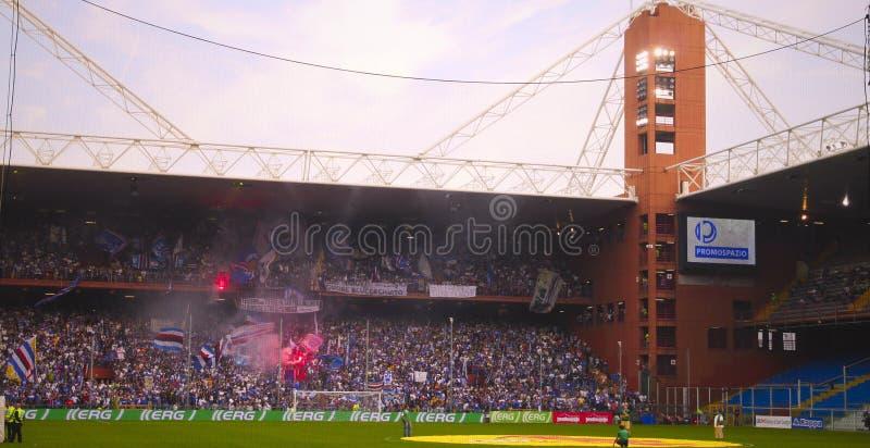 Antes del emparejamiento Sampdoria - inter imágenes de archivo libres de regalías