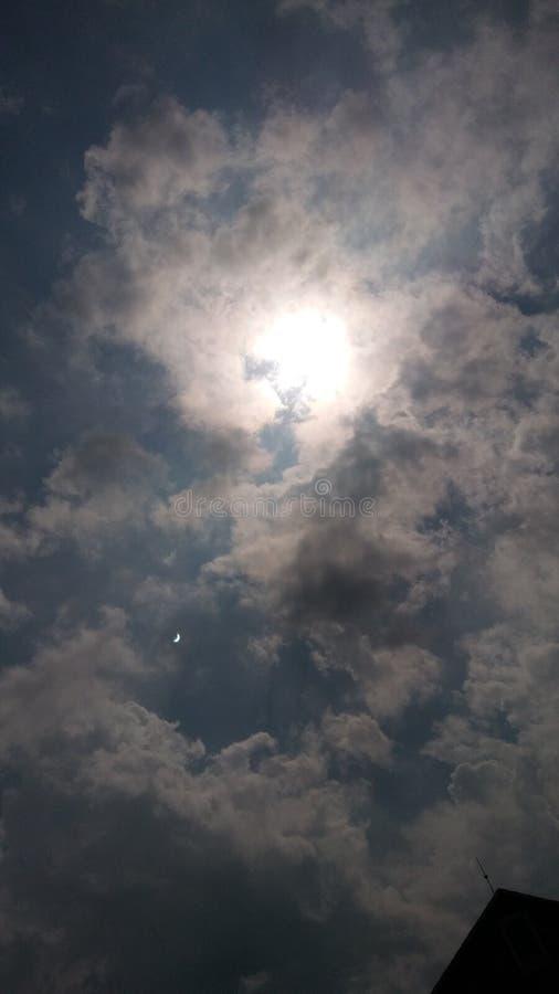 Antes do eclipse fotografia de stock