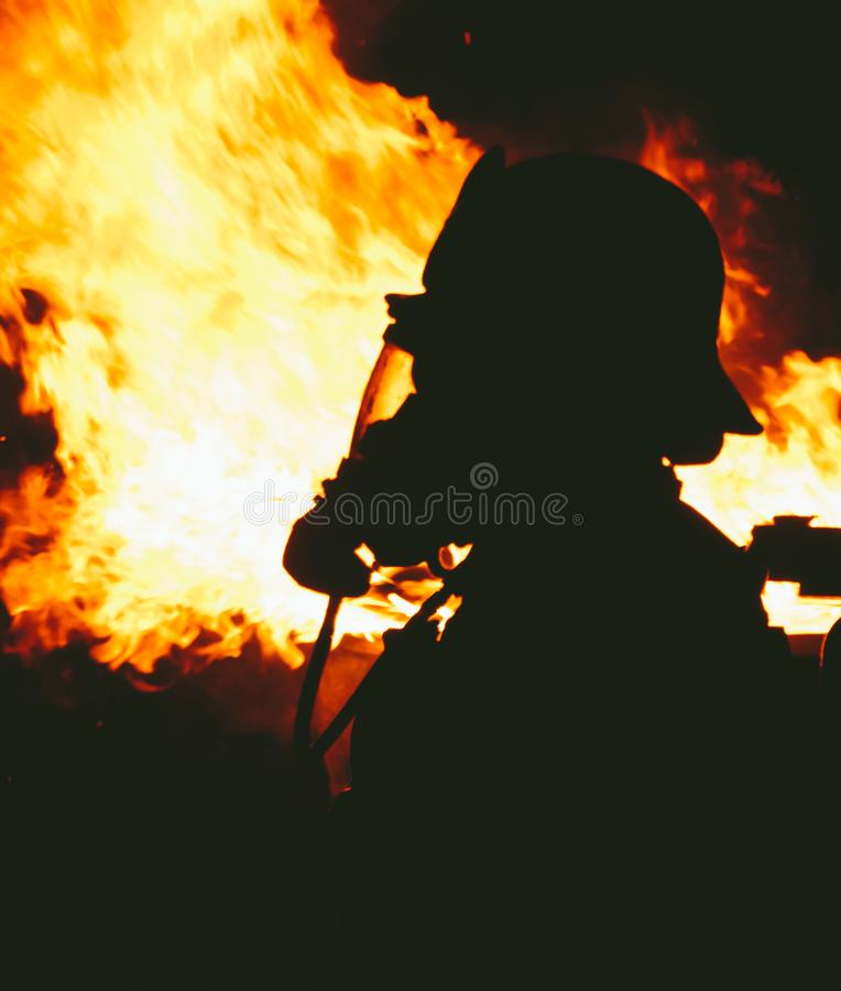 Antes do fogo imagens de stock