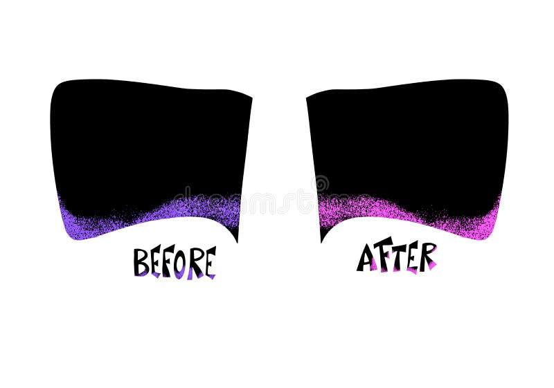 Antes e depois do molde Ilustra??o do vetor ilustração royalty free