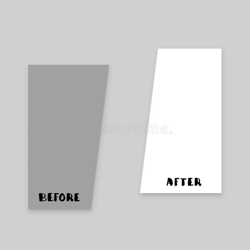 Antes e depois Ilustração do vetor ilustração royalty free