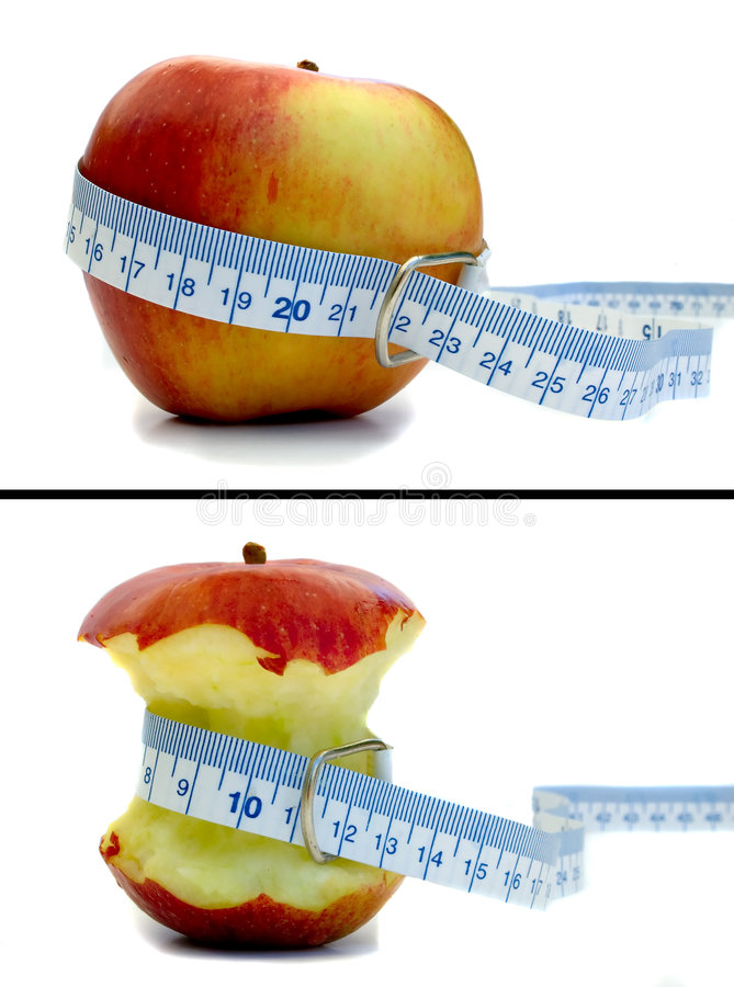 Download Antes y Apple foto de archivo. Imagen de salud, medida - 191928