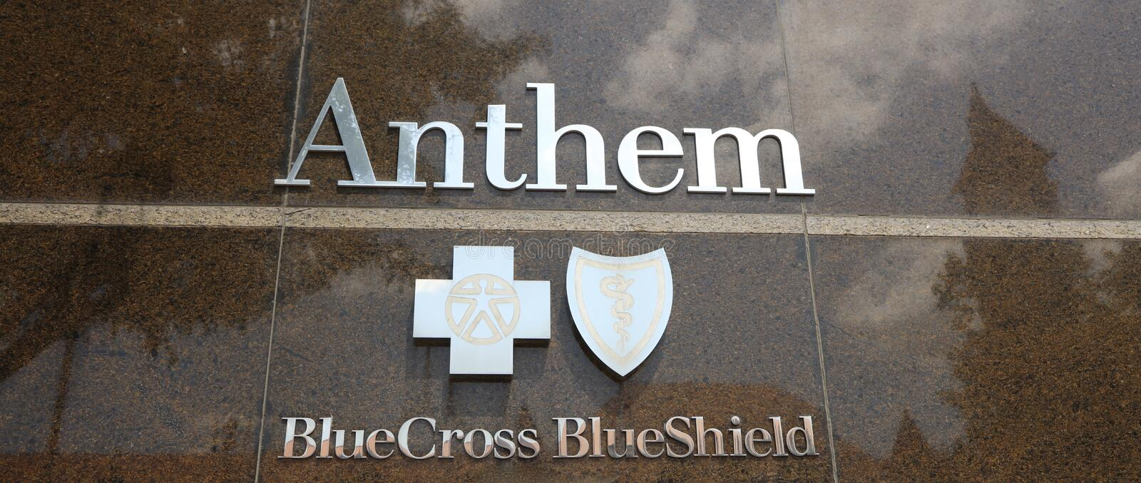 Anthem Health Blue Cross Blue Shield. Anthem Inc. is an American health insurance company founded in the 1940s, prior to 2014 known as WellPoint, Inc. It is the royalty free stock photography