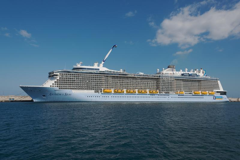 Anthem of the Seas.Royal Caribbean International. Anthem of the Seas,Cruise ship 26.05.2015 Canary Island Tenerife, Spain stock image