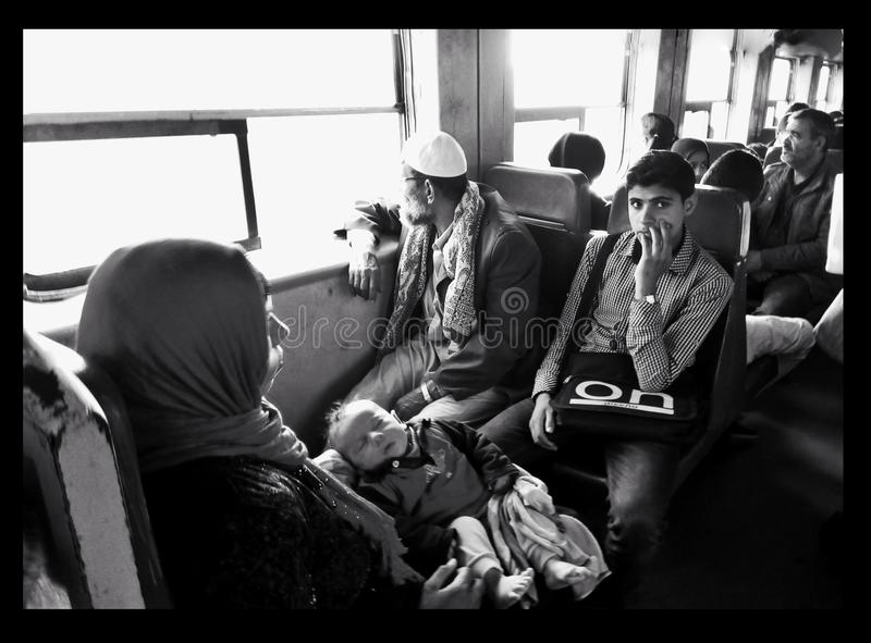 Anthereseite der Eisenbahn in Ägypten lizenzfreies stockfoto