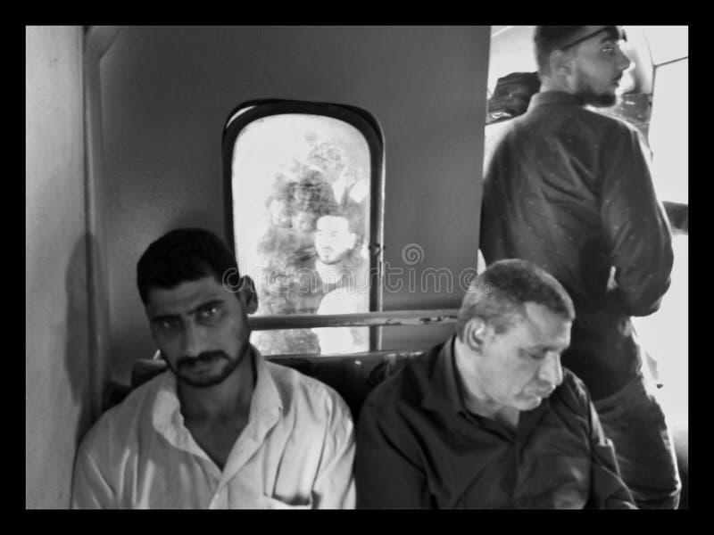 Anthereseite der Eisenbahn in Ägypten stockfoto
