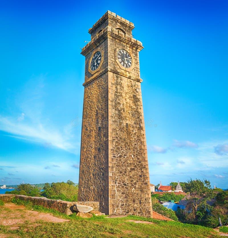 Anthonisz minnes- klockatorn i Galle, royaltyfri foto
