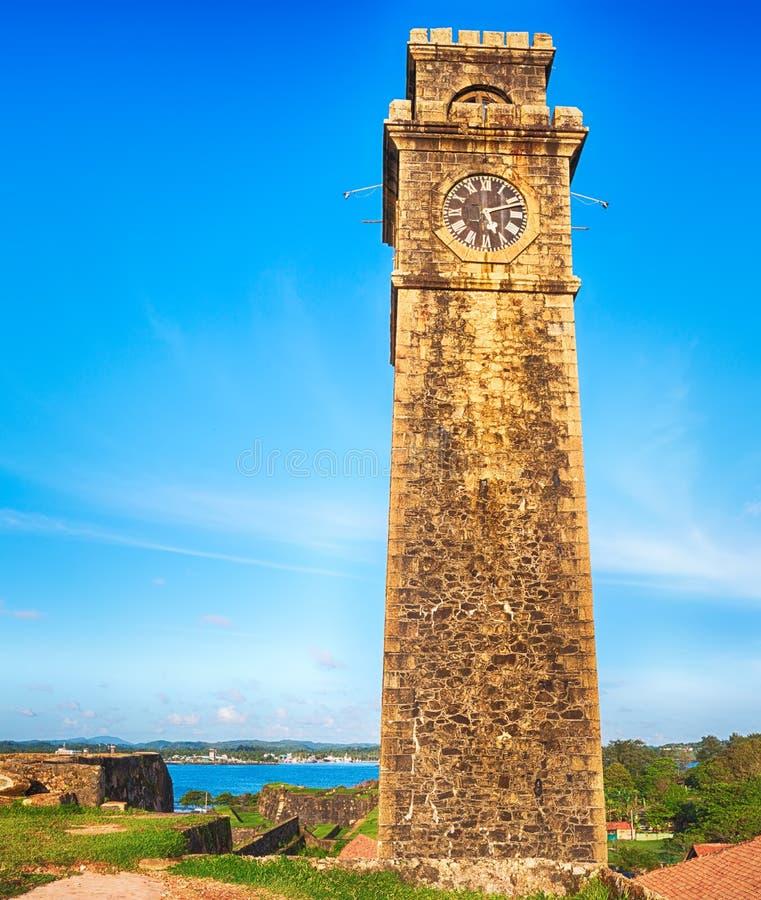 Anthonisz minnes- klockatorn i Galle, arkivfoton
