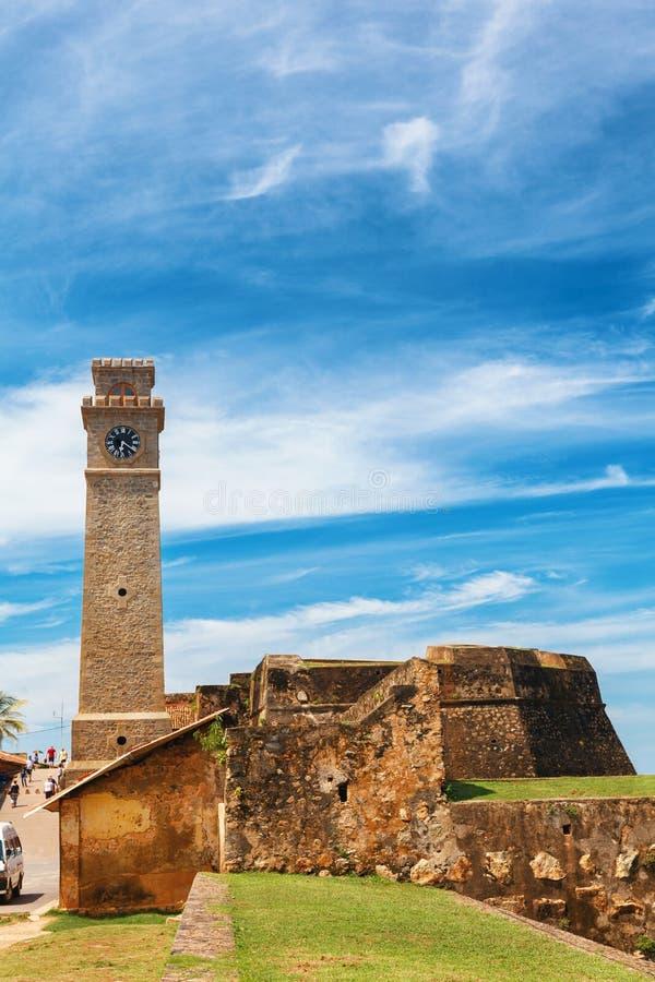 Anthonisz vaggar det minnes- klockatornet i Galle det historiska holländska fortet, flagga bastionen, Sri Lanka royaltyfri fotografi