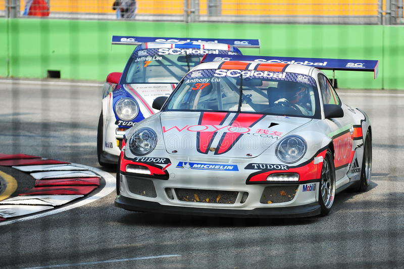 Anthony Liu Racing At Porsche Carrera Cup Asia Editorial Image