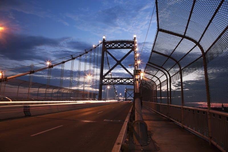 Anthony Wayne Bridge in Toledo stock photo