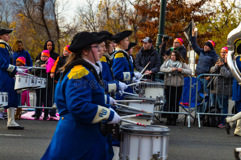 Anthony Wayne Marching Generals Drum Players royalty-vrije stock foto's