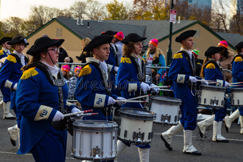 Anthony Wayne Marching Generals Drummers stock afbeelding