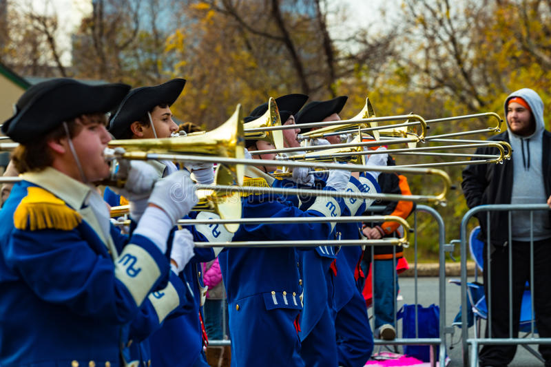 Anthony Wayne Marching Generals Trombone Players royalty-vrije stock afbeeldingen
