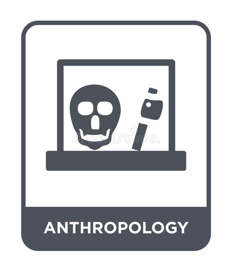 Anthropologieikone in der modischen Entwurfsart Anthropologieikone lokalisiert auf weißem Hintergrund Anthropologievektorikone ei lizenzfreie abbildung