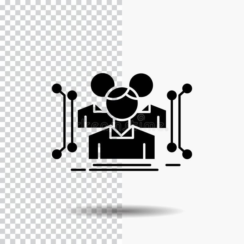 Anthropometrie, Körper, Daten, menschliche, allgemeine Glyph-Ikone auf transparentem Hintergrund Schwarze Ikone stock abbildung
