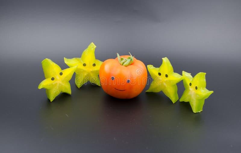 Anthropomorphic frukter arkivfoton