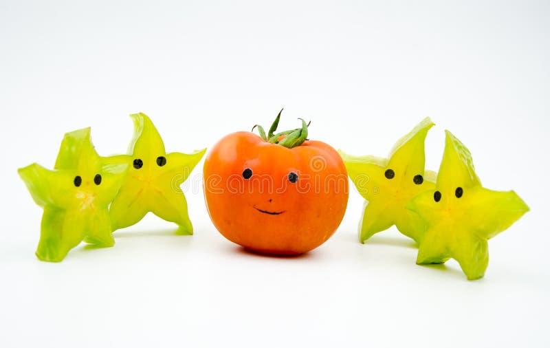 Anthropomorphic frukter royaltyfria foton