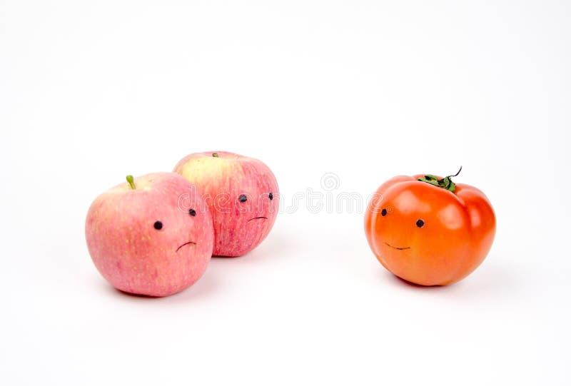 Anthropomorphic grönsaker och frukter royaltyfria bilder
