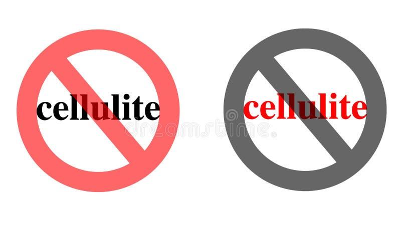 anti знак cellulite иллюстрация штока