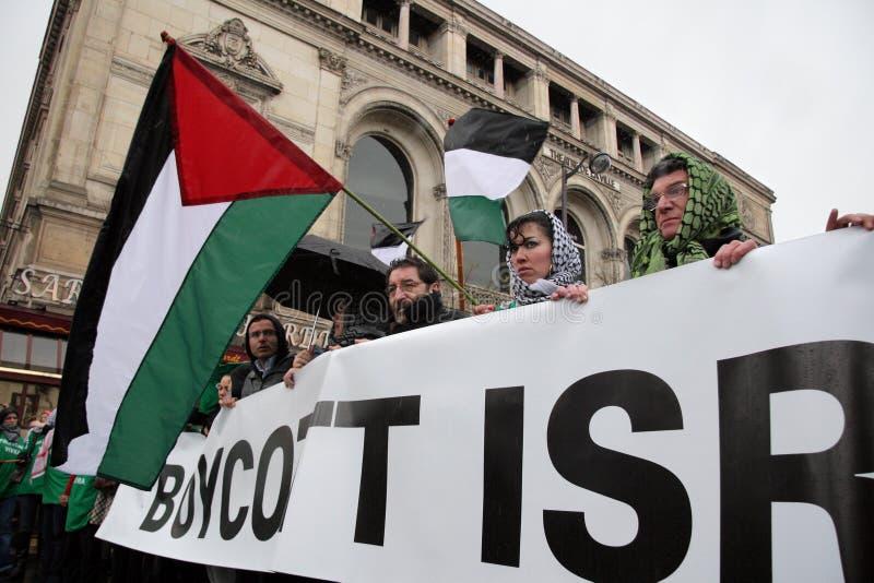 anti израильские протесты paris стоковая фотография rf