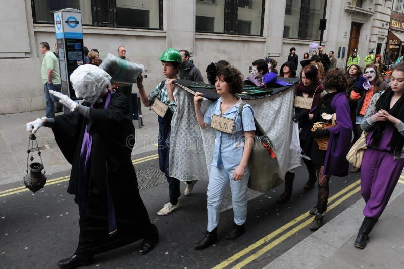 anti протест london отрезоков стоковое фото