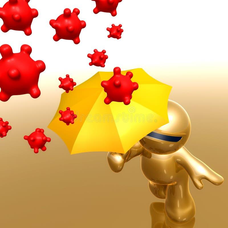 Anti символ иконы вируса бесплатная иллюстрация