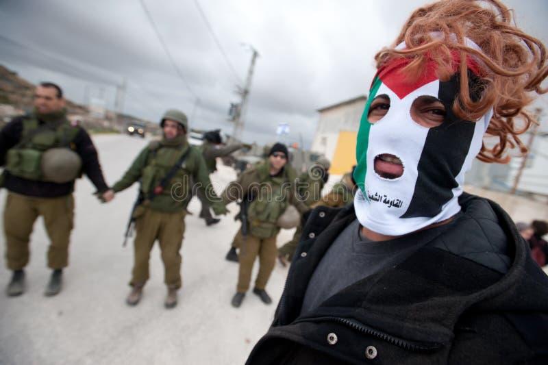 anti стена демонстрации банка западная стоковые изображения