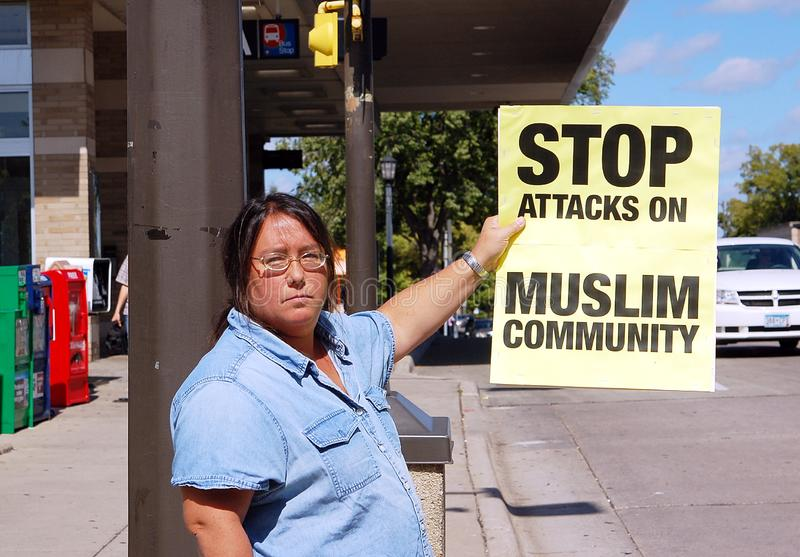 anti стоп muslim ханжества стоковое фото