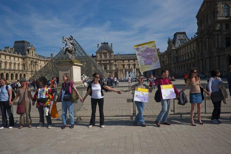 anti энергия ядерный paris демонстрации стоковое изображение