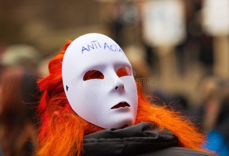 Anti-ACTA-Demonstration stockbilder
