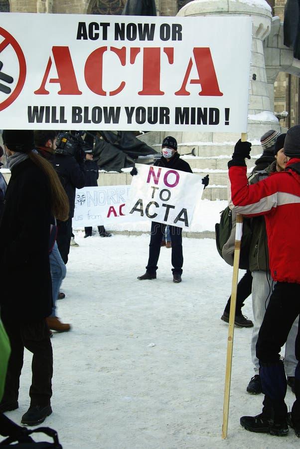 Anti-ACTA Rumänien stockfotografie