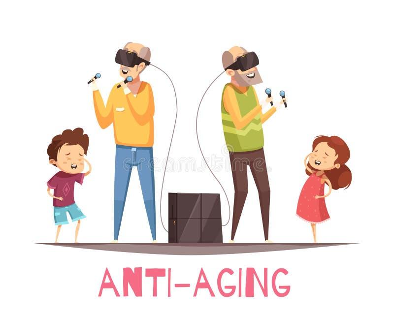 Anti Aging Design Concept royalty free illustration