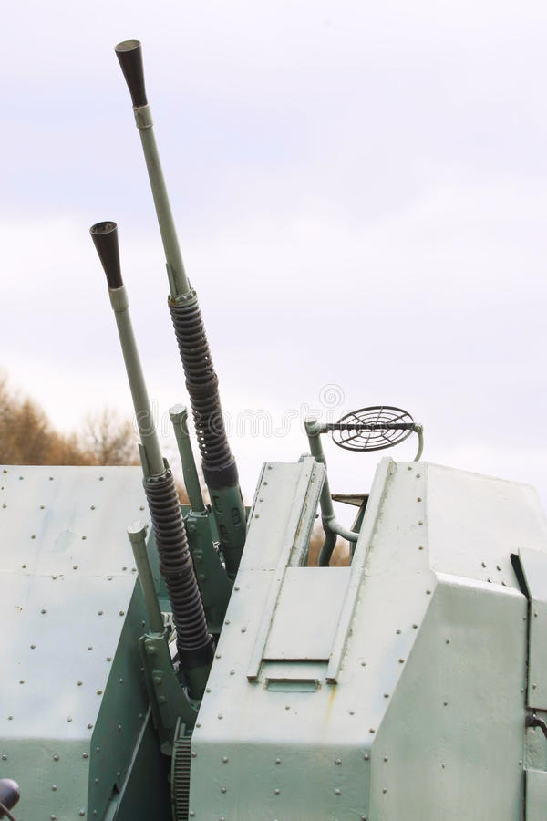 Anti-aircraft gun. Aims for the sky royalty free stock images