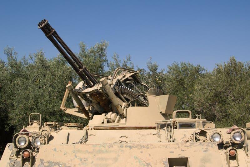 Anti-aircraft machine-gun royalty free stock image