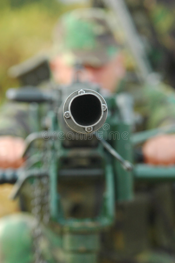 Anti-Aircraft Machine Gun stock photos