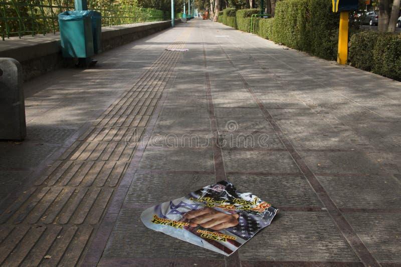 Anti-Amerika-Propaganda in Isfahan, der Iran lizenzfreies stockfoto