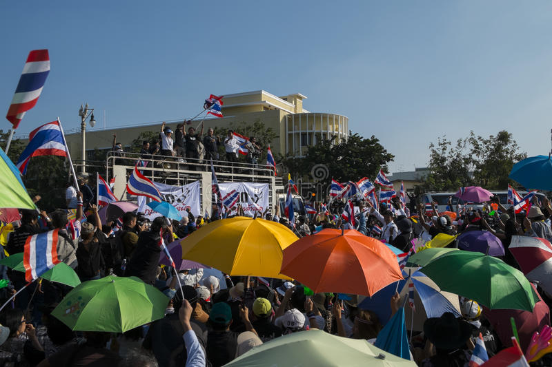 Download Anti-amnesty bill protest editorial stock photo. Image of bangkok - 34959398
