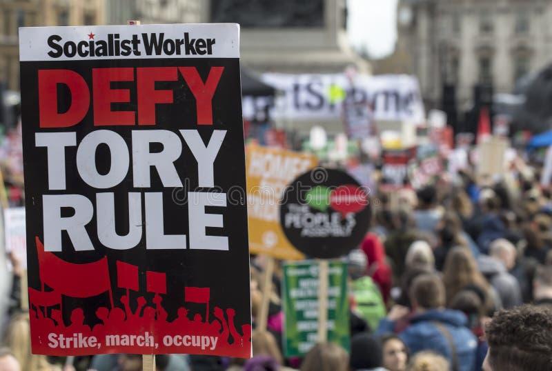 Anti-austérité mars photos libres de droits